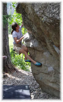 Bouldering at Ailefroide