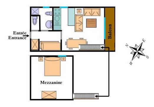Vallouise valley apartment the bouquetin welcome to alpsun for Mezzanine plan