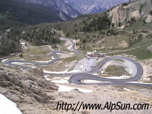 Last bends on the Col d'Izoard