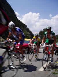Leading pack on the 2004 Tour